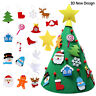 DIY Felt Christmas Tree Set With Ornaments Xmas Gifts Wooden Hanging PendRKCA