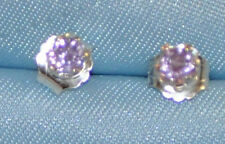 4.0MM ROUND EARTH MINED AMETHYST STUDS HANDCRAFTED IN STERLING SILVER