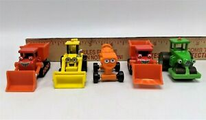 Bob the Builder Mini Miniature DieCast Lot of 5 Dizzy Roley Scoop 2 Muck