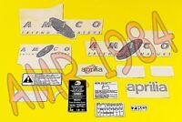 SERIE ADHESIVOS CALCOMANÍAS APRILIA AMICO 50 1992 AZUL AP8215309