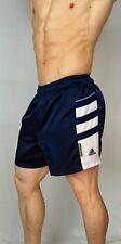 MEN'S VINTAGE Adidas SATIN Soccer Shorts (COLLECTOR'S ITEM) NAVY MEDIUM