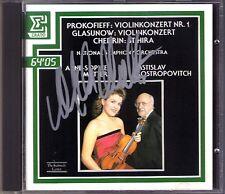 Anne-Sophie MUTTER Signiert PROKOFIEV GLAZUNOV Violin Concerto ROSTROPOVICH CD
