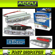 Ring Motorcycle Bike High Visibility Daytime Position LED Lamps DRL Cruise Light