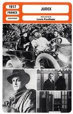 FICHE CINEMA : JUDEX - Cresté,Musidora,Poyen,Feuillade 1917