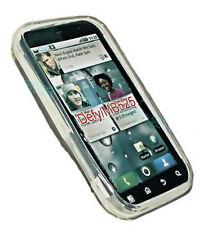 Silikon TPU Cover Case Handy Hülle Kappe Schale in Transparent für Motorola Defy
