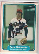 Minnesota Twins PETE MacKANIN signed 1982 Fleer