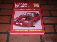HAYNES MANUAL FOR NISSAN PRIMERA. 1990 TO 1999. H TO T REGISTRATION.