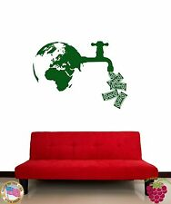 Wall Stickers Vinyl Decal Ecology Money Killing Nature Green Peace z1150