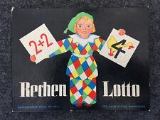ALT - Rechen Lotto - Ravensburger 394 b Vollständig bunte Kärtchen gut erhalten