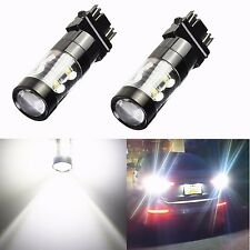JDM ASTAR 2x50W 3157 3156 Super Bright 6000K White LED Backup Reverse Light Bulb