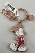 Disney Parks Mickey Mouse Rose Gold Sparkly Keychain WDW - NEW