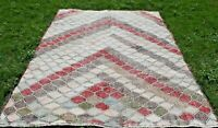 Vintage Wool Area Rug Anatolian Hand Knotted Natural Wool Bohemian Carpet 6x8 ft