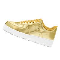 NIKE WOMENS Shoes Air Force 1 SP - Metallic Gold & White - CQ6566-700