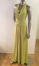 NWT Halston Heritage lime halter gown maxi long sleeveless dress size M 6 - $395