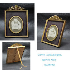 Nice antique bronze French picture frame 19 cm x 13 cm