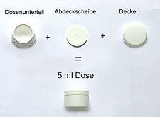 2 x Leerdose Tiegel weiß & weißer Deckel 5ml für UV Gel Creme Powder Markenware