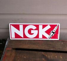 Ngk Spark Plug Metal Sign Gas Gasoline gas oil Garage Mechanic Shop 5x12 50116