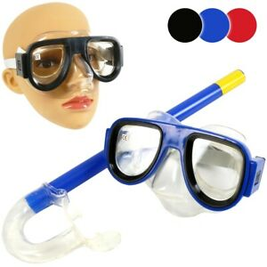 KIDS SNORKEL & MASK SET Swimming Goggles Scuba Holiday Pool Diving Swim Toy Tube