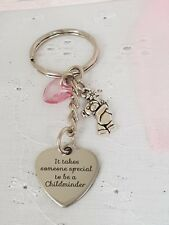 IT TAKES SOMEONE SPECIAL TO BE A CHILDMINDER KEYRING WITH GIFT BAG THANK YOU