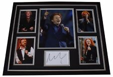 More details for mick hucknall signed framed photo autograph huge display simply red music coa