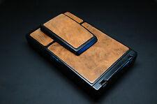 """Polaroid SX-70 Brown""""Brush Strokes"""" Glazed Napa Cowhide PolaSkinz SLR680."""