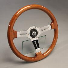 Volante madera volante deportivo madera cromo 360mm buje VW Bus t3 Dehler doka odos los Syncro