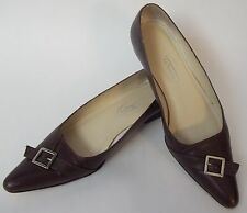 Talbots Shoes Brown Flats Womens Size 6M Deirdre