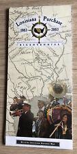 Louisiana Purchase Bicentennial, official Louisiana Highway map, 2002