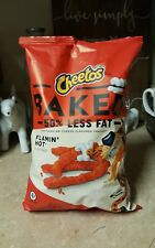 NEW Cheetos Oven Baked Flamin Hot BIG BAG 7.5 oz Gluten Free 50% Less Fat Snacks