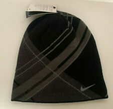NEW! NIKE Adult GOLF Reversible Knit Beanie-Black/Grey 417636-010