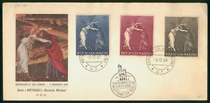 MayfairStamps Cover 1968 Botticelli Artist San Marino 1968 First Day Cover wwp56