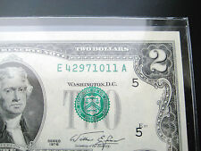 $2 1976 (Seal Misalignment Error)Federal Reserve Choice Unc Bu Note