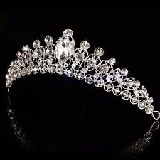 Princess Austrian Stunning Crystal Hair Tiara Wedding Bridal Crown Veil Headband