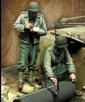 1/35 Resin Figure Model Kit US Soldier Tank Crew (no tank) WWII WW2 Unpainted