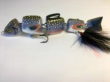 Custom Fishing MAB Lures 9 inchs Wood Colors Juvenile Brook Trout Musky Swimbait