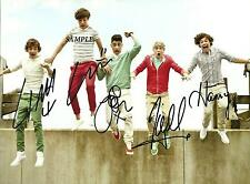 ONE DIRECTION BAND #1 REPRINT AUTOGRAPHED 8X10 SIGNED PICTURE PHOTO HARRY STYLES