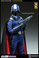 Sideshow G.I. Joe COBRA COMMANDER + STAND Exclusive Sixth Scale Figure New