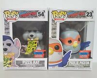 Funko Pop Pizza Rat & Paulie Pigeon 2020 NYCC Comic Con Exclusive NIB In Hand