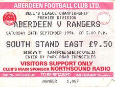 Aberdeen Football Scottish Fixture Tickets & Stubs