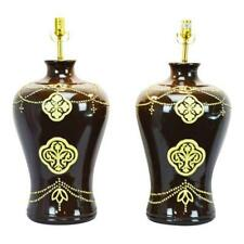 Large Scale Jamie Young Company Ceramic Table Lamps - A Pair
