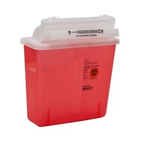 LOT OF 10! DEAL! 5 Quart Sharps Container Lid Safety Needle Doctor Tattoo SHARP