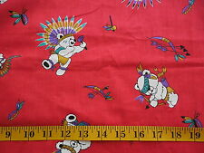 Vintage Indian Teddy Bear Cotton Fabric Child Juvenile