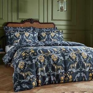 Navy Duvet Covers Nouvilla Cheetah Floral 100% Cotton 200TC Quilt Cover Bed Sets