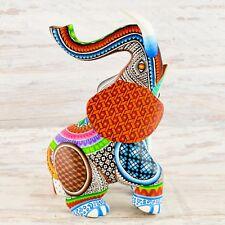 A1456 Elephant Alebrije Oaxacan Wood Carving Painting Handcrafted Folk Art Me