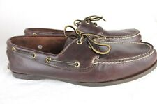 Timberlands Mens size 15M Boat Shoes Brown Leather