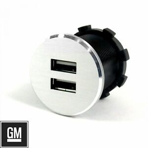 Billet Dual USB Power Outlet 12V Volt fits GM Chevy Buick Hot Rod Custom Street