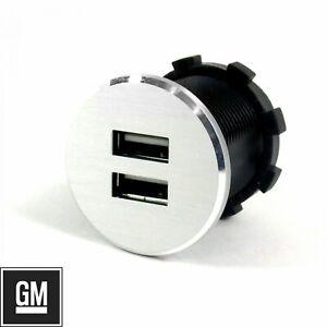 Billet Dual USB Power Outlet 12V Volt fits GM Chevy Buick Hot Rod Custom Street