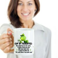 Grinch Cup of Fuckoffee Coffee Ceramic White Coffee Mug Tea Cup Funny Gift Mug