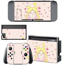 Sailor Moon Cute Crystal Nintendo Switch Joy-Con Dock Console Vinyl Skin Covers