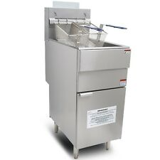 New Twin Basket 3 Burner LPG Gas Chip Fryer Free Standing Commercial Fryer